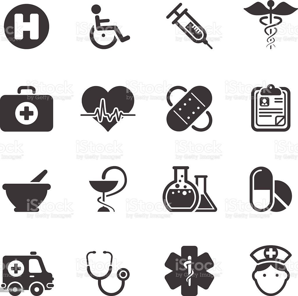 Medicine Healt Care - Simple Icons vector art illustration
