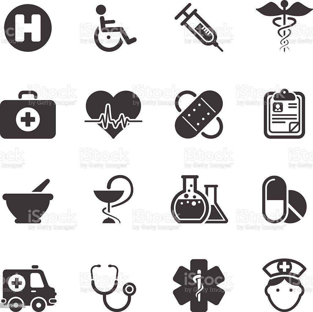 Medicine Healt Care - Simple Icons vector art illustration