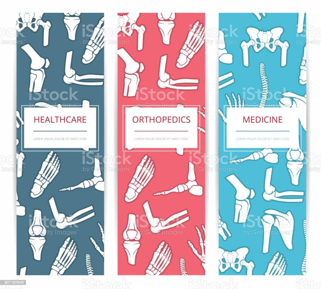 Medicine, health care, orthopedics banner template vector art illustration