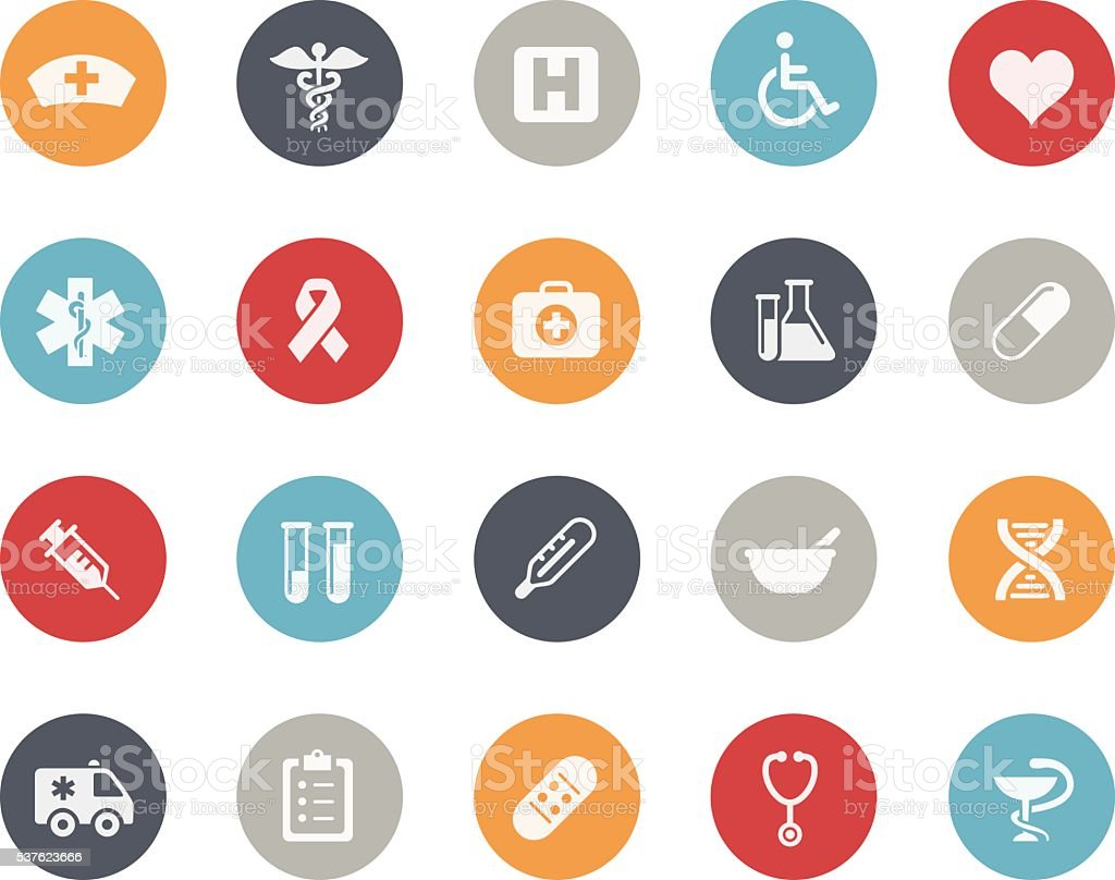 Medicine & Healthcare Icons // Classics vector art illustration