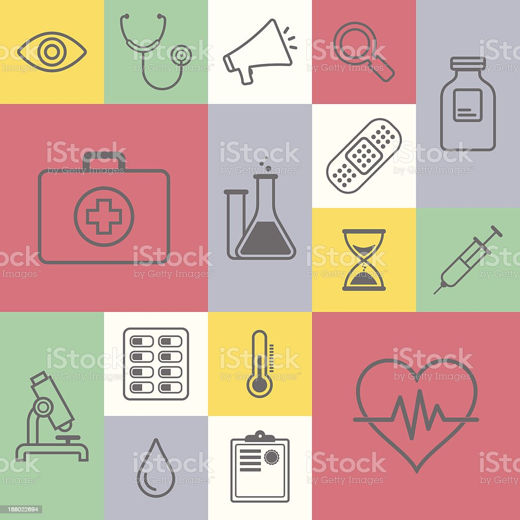 Medicine & Healthcare vector art illustration
