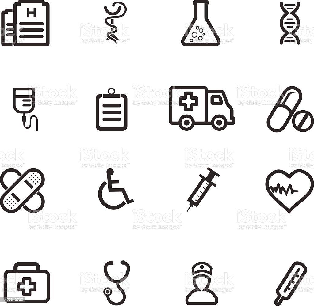 Medicine Icon - Line vector art illustration