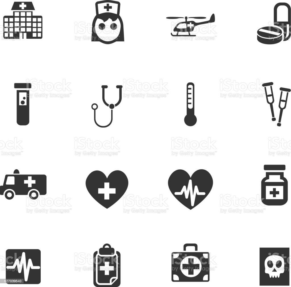 medicine icon set vector art illustration