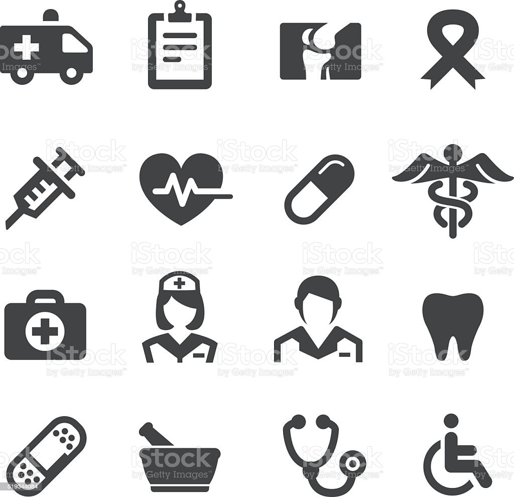 Medicine Icons - Acme Series vector art illustration