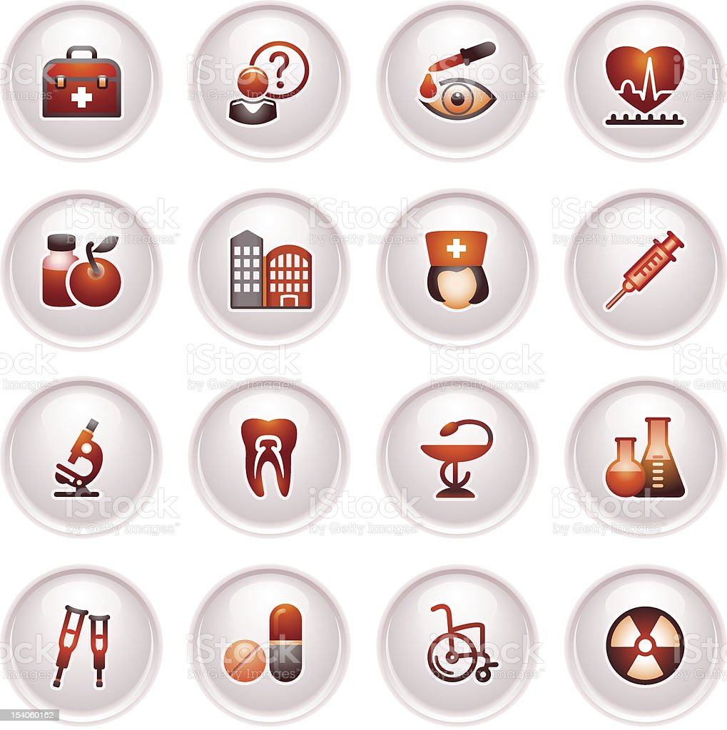 Medicine  icons set 2. Black red series. royalty-free stock vector art
