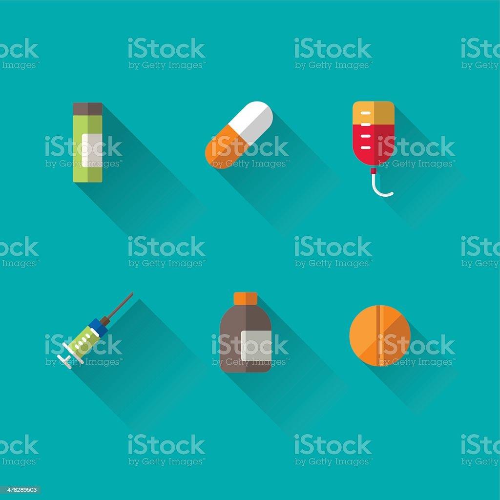 medicine icons vector art illustration