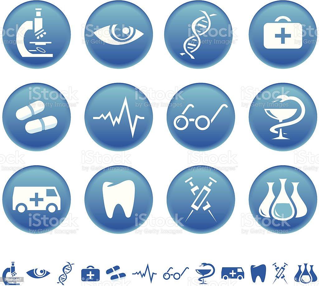 Medicine icons royalty-free stock vector art