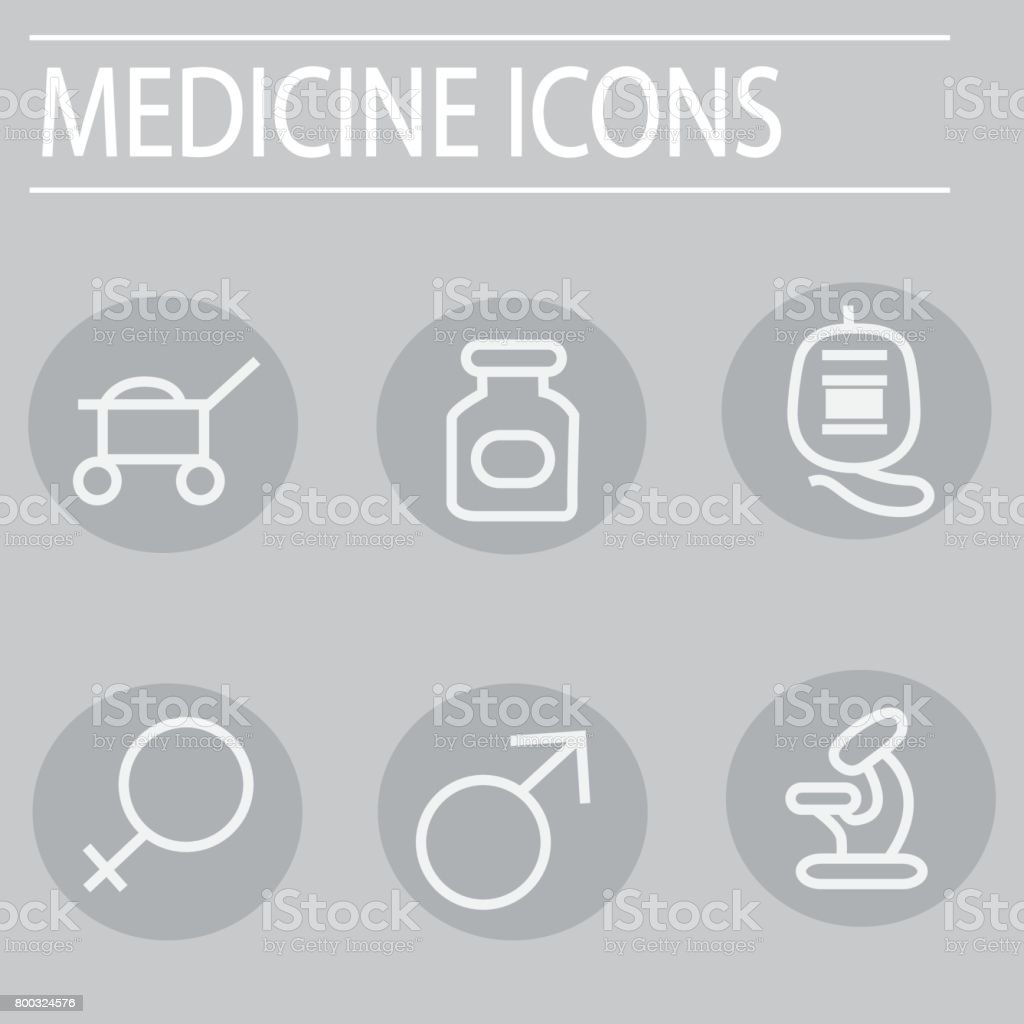 medicine icons vector vector art illustration