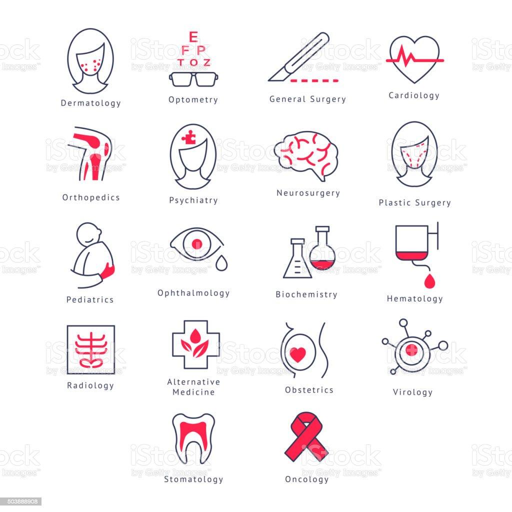 Medicine Kinds. Vector Illustration Set vector art illustration