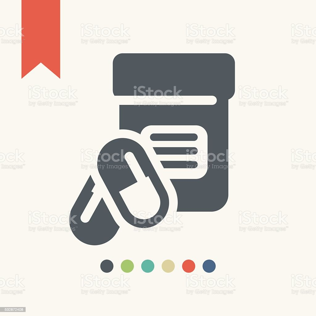 Medicine pills icon vector art illustration