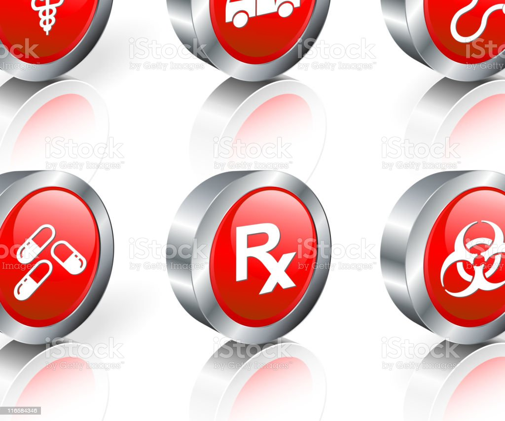 medicine royalty free vector icon set royalty-free stock vector art