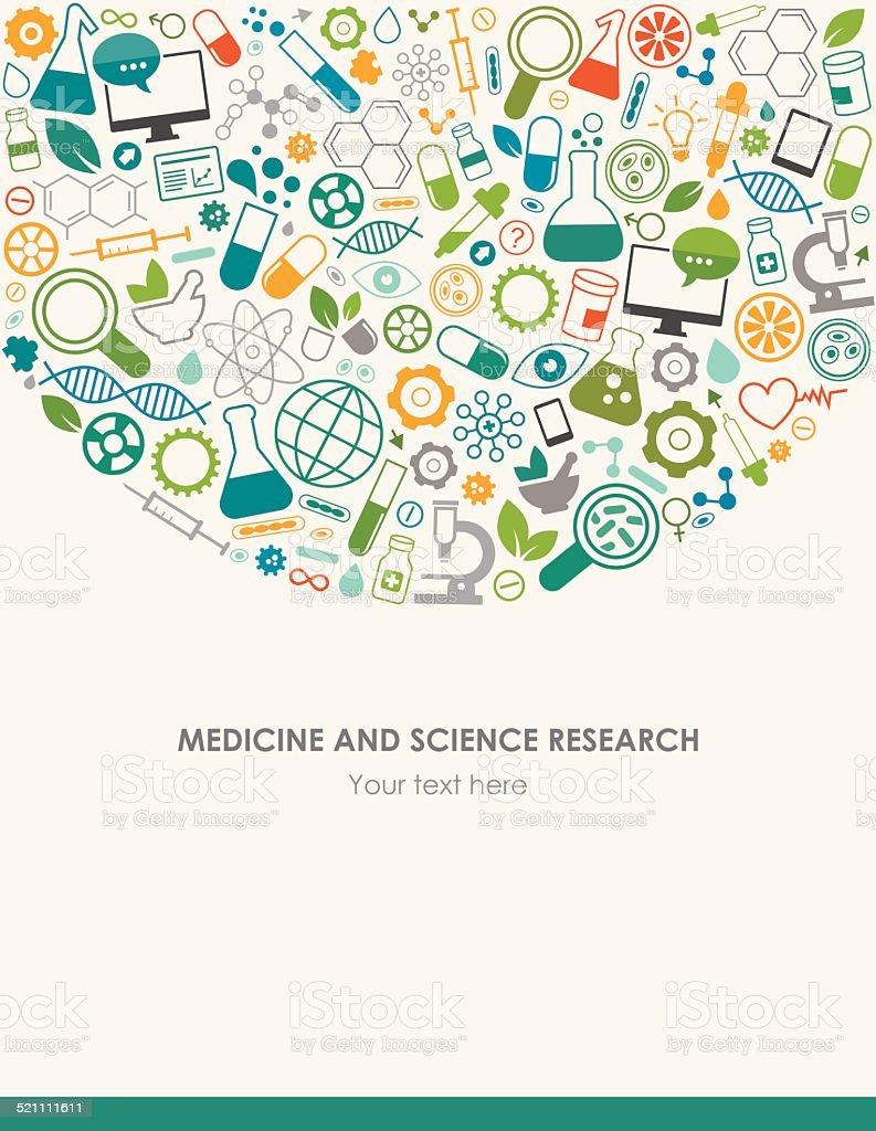 Medicine Science Background vector art illustration