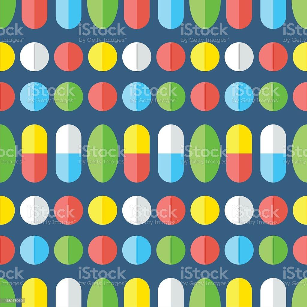Medicines, seamless pattern. vector art illustration