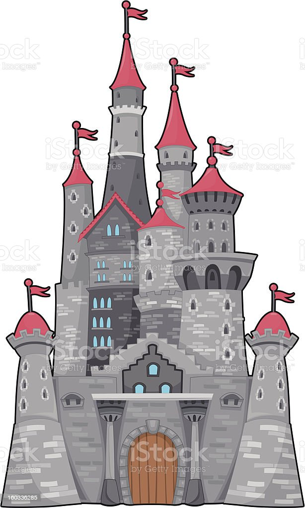 Medieval and fantasy castle. stock photo