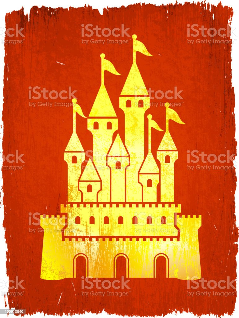 Medieval Castle on royalty free vector Background royalty-free stock vector art