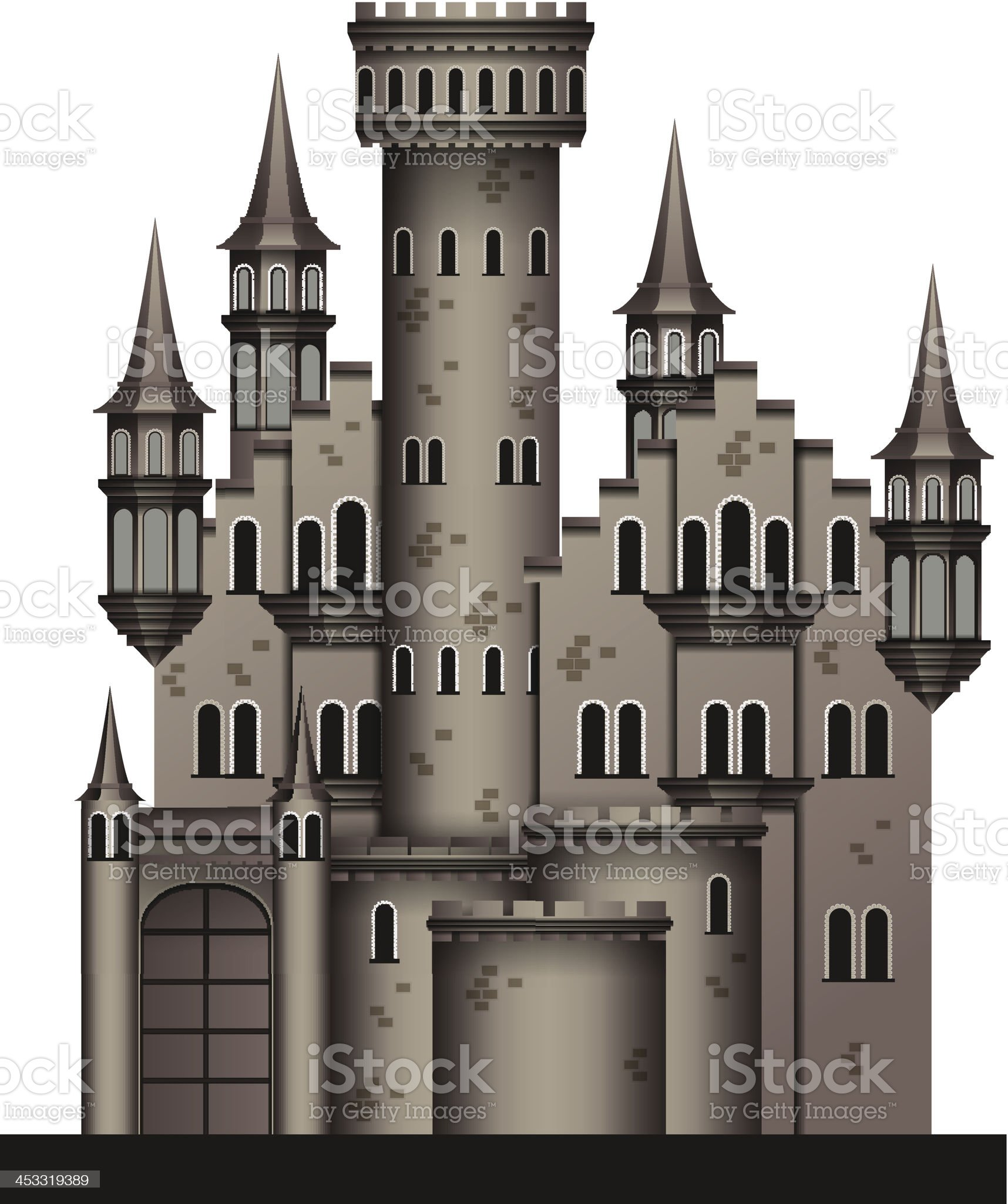 Medieval castle royalty-free stock vector art