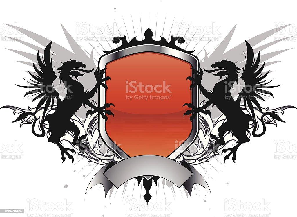 medieval emblem royalty-free stock vector art
