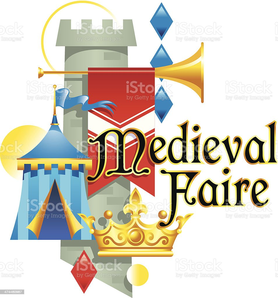 Medieval Faire Heading royalty-free stock vector art