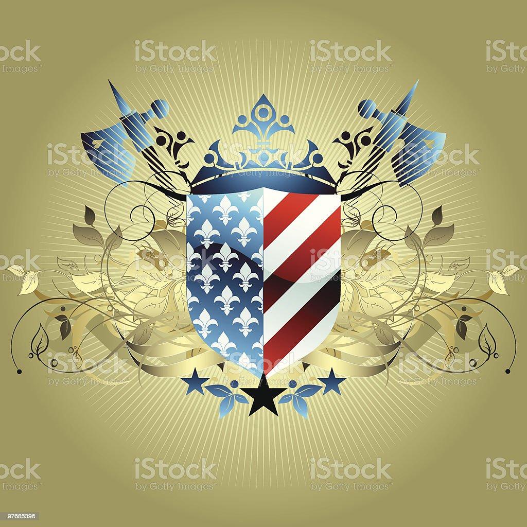 medieval heraldic background shield royalty-free stock vector art