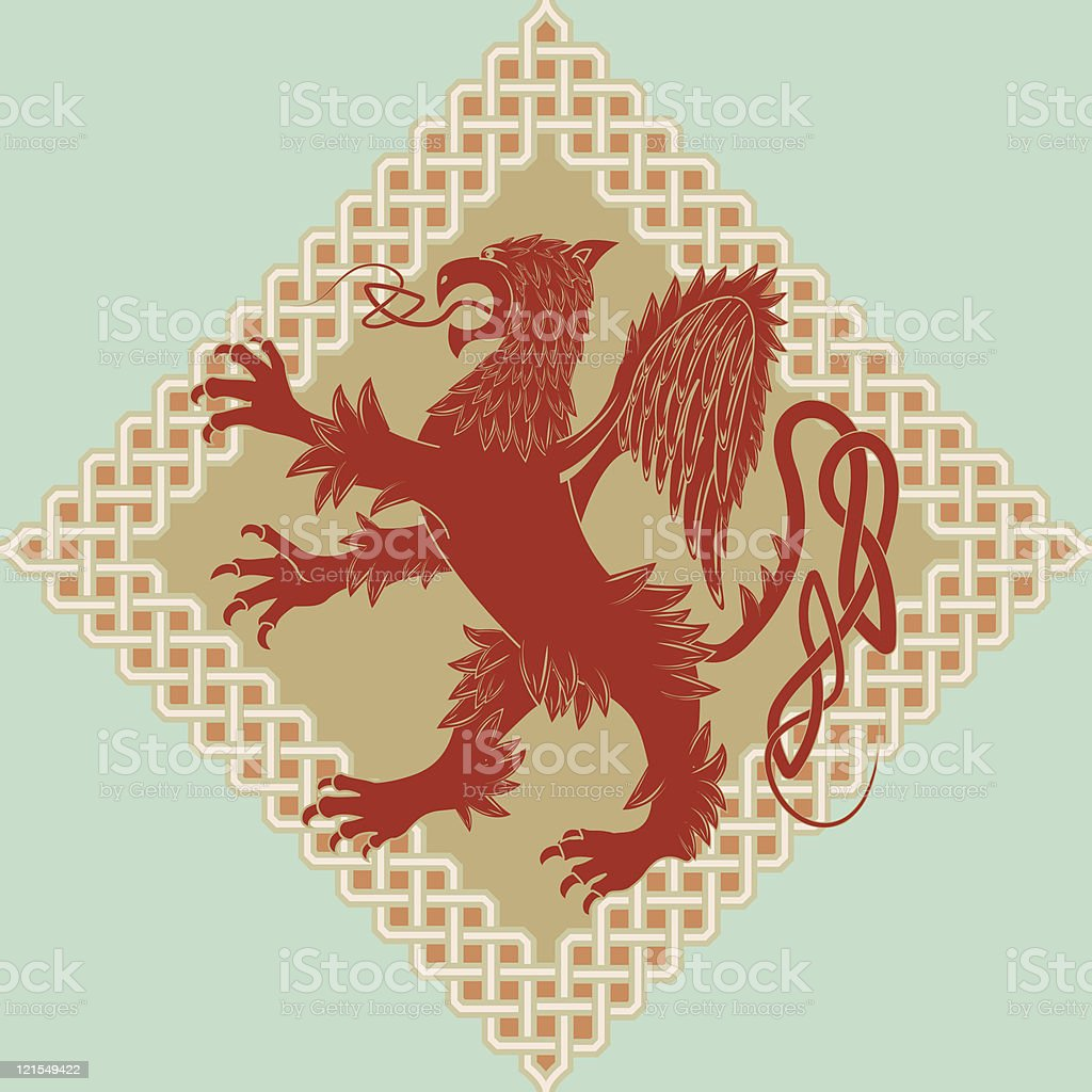 Medieval heraldic symbol royalty-free stock vector art