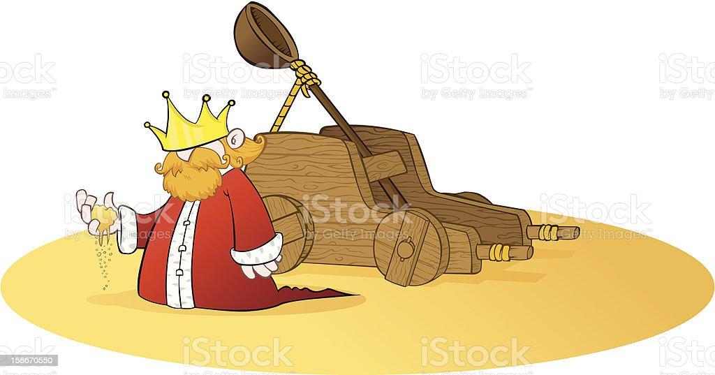 Medieval King in Desert royalty-free stock vector art