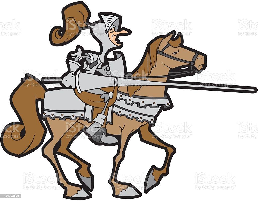 Medieval Knight royalty-free stock vector art