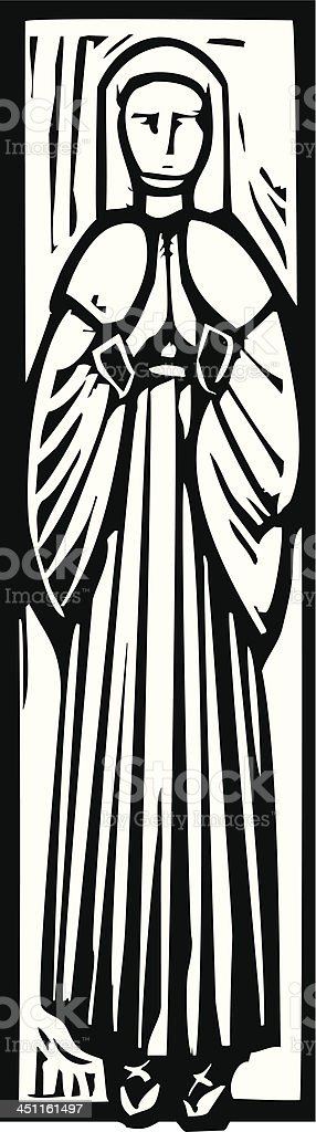 Medieval Lady Burial Image royalty-free stock vector art