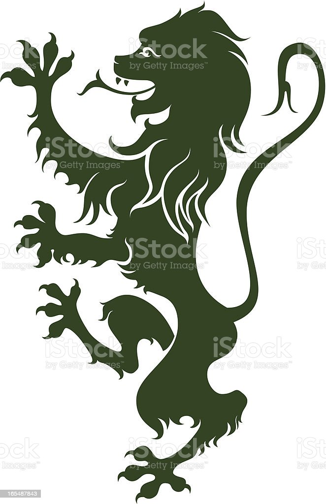 Medieval Lion royalty-free stock vector art