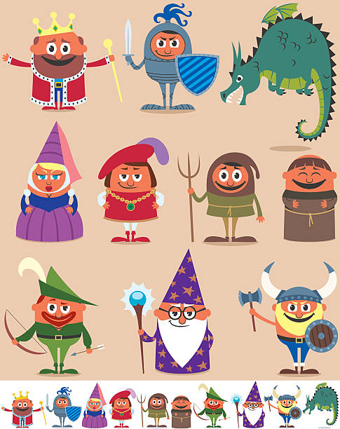 Cartoon Of The Fantasy Women Warriors Clip Art, Vector Images ...