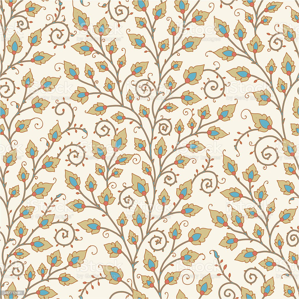 Medieval Seamless Pattern. vector art illustration