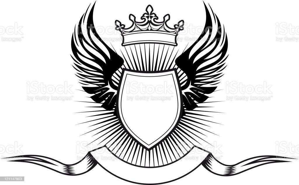 Medieval shield royalty-free stock vector art