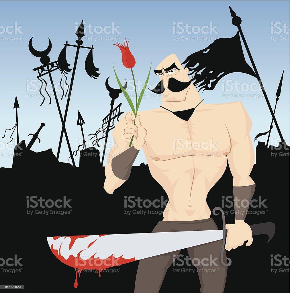 Medieval Warrior royalty-free stock vector art