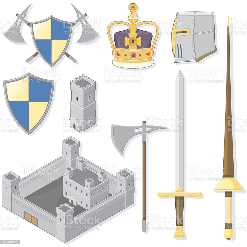Medieval Weapons vector art illustration