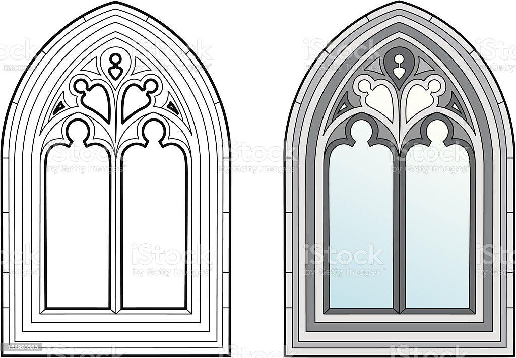 Medieval window royalty-free stock vector art