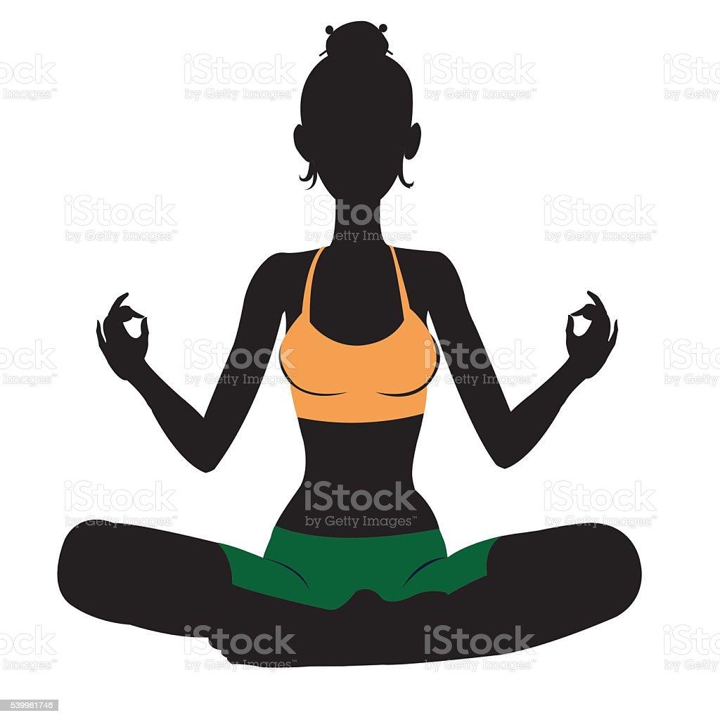 Meditating royalty-free stock vector art