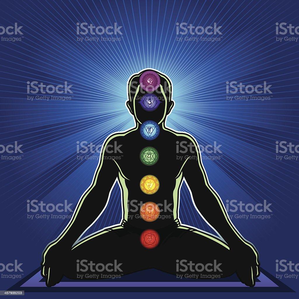 Meditation and Chakra royalty-free stock vector art