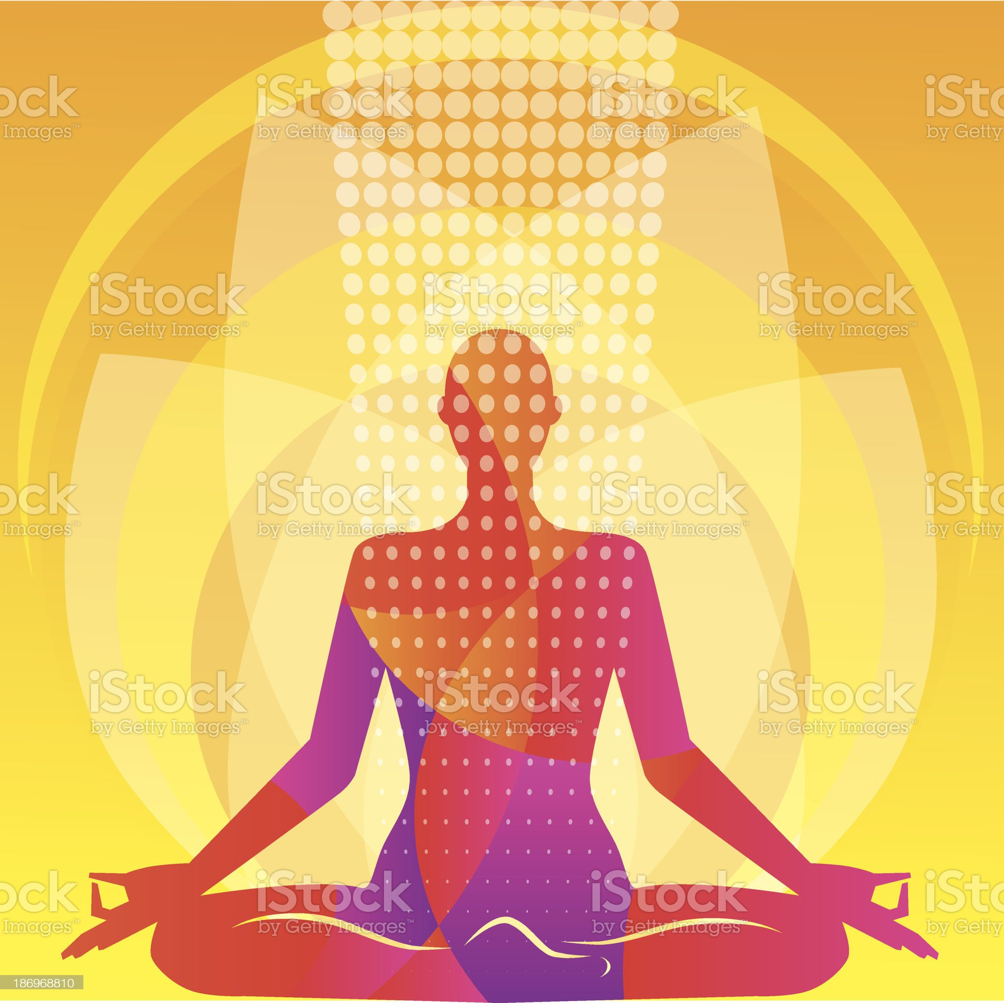 Meditation in a lotus pose. Vector illustration royalty-free stock vector art