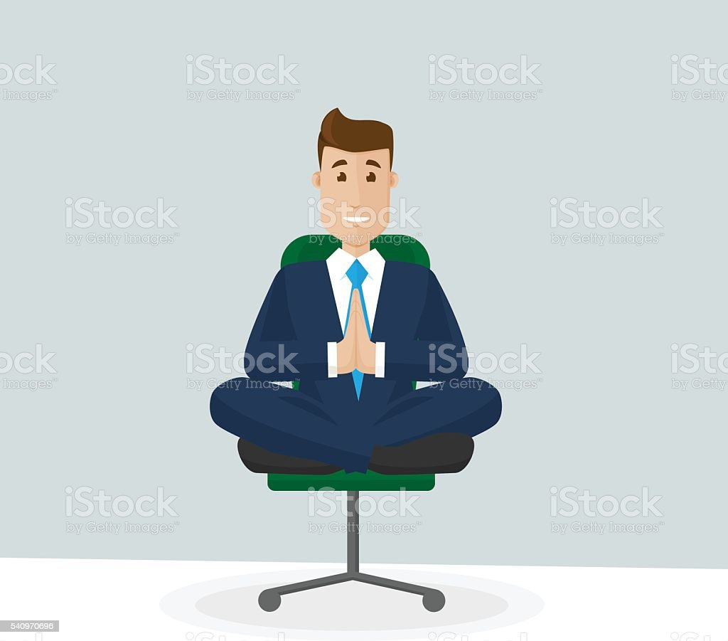 yoga office chair clip art, vector images & illustrations - istock