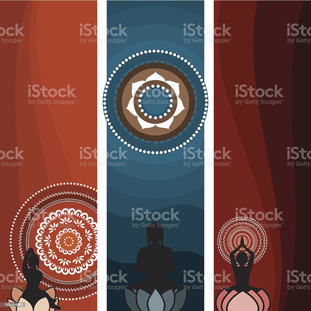 Meditation Series (Vector) royalty-free stock vector art