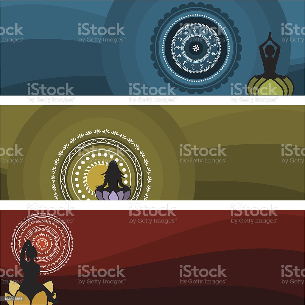 Meditation Series (Vector) royalty-free stock vector art