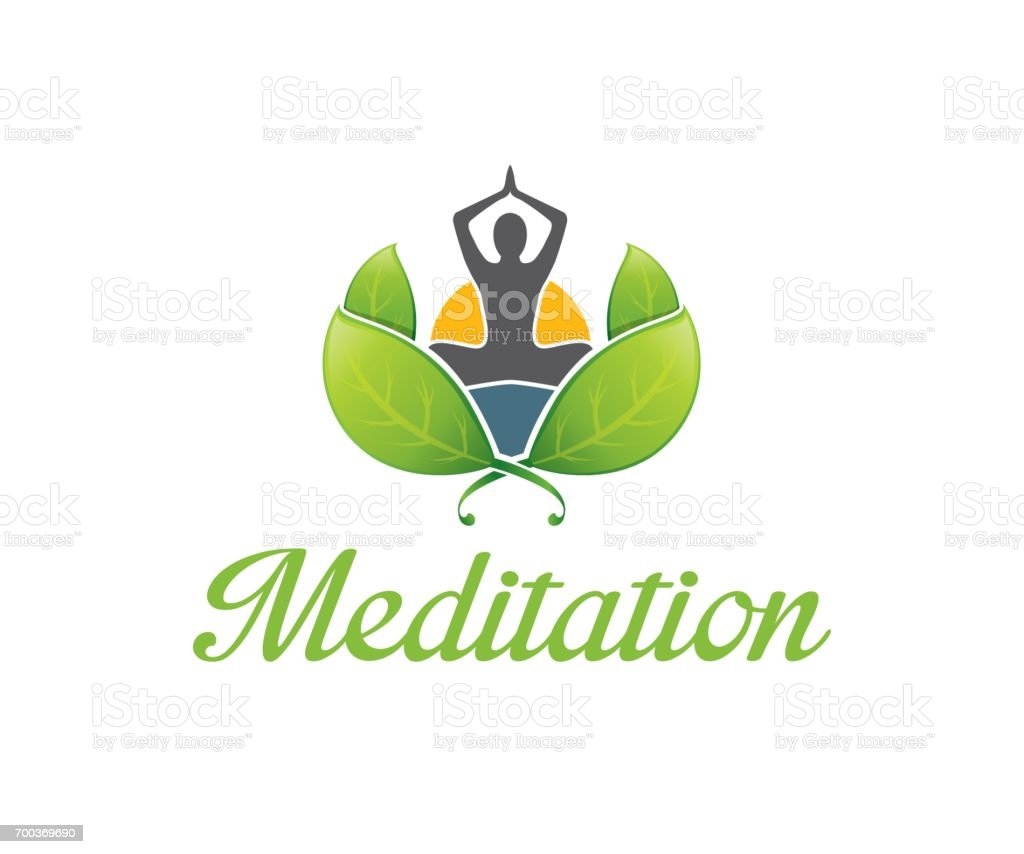 Meditation vector icon vector art illustration