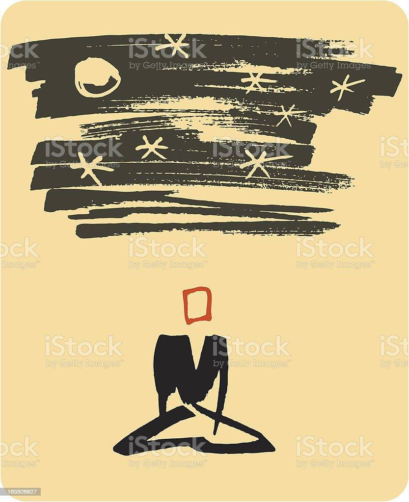 Meditation vector art illustration