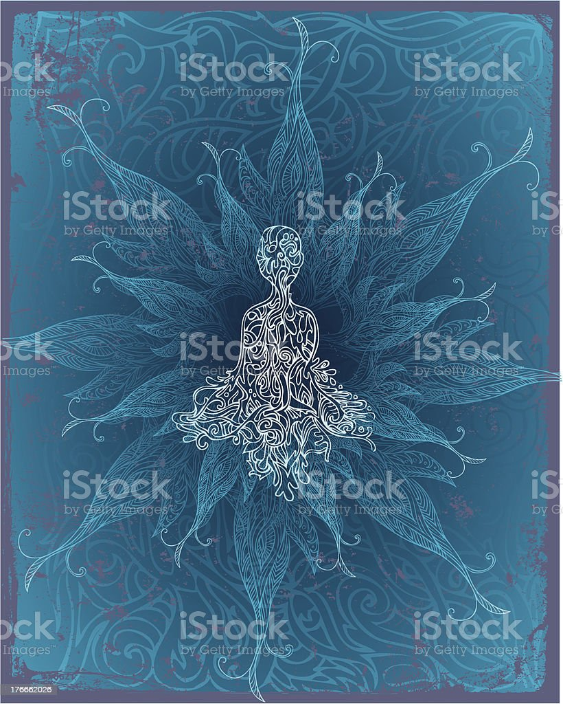 meditative radiance royalty-free stock vector art