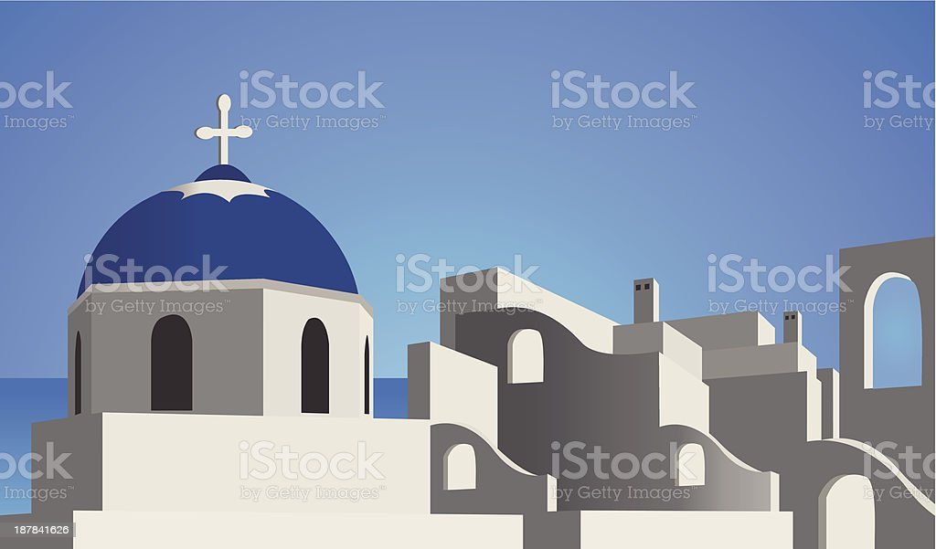 Mediterranean Architecture vector art illustration