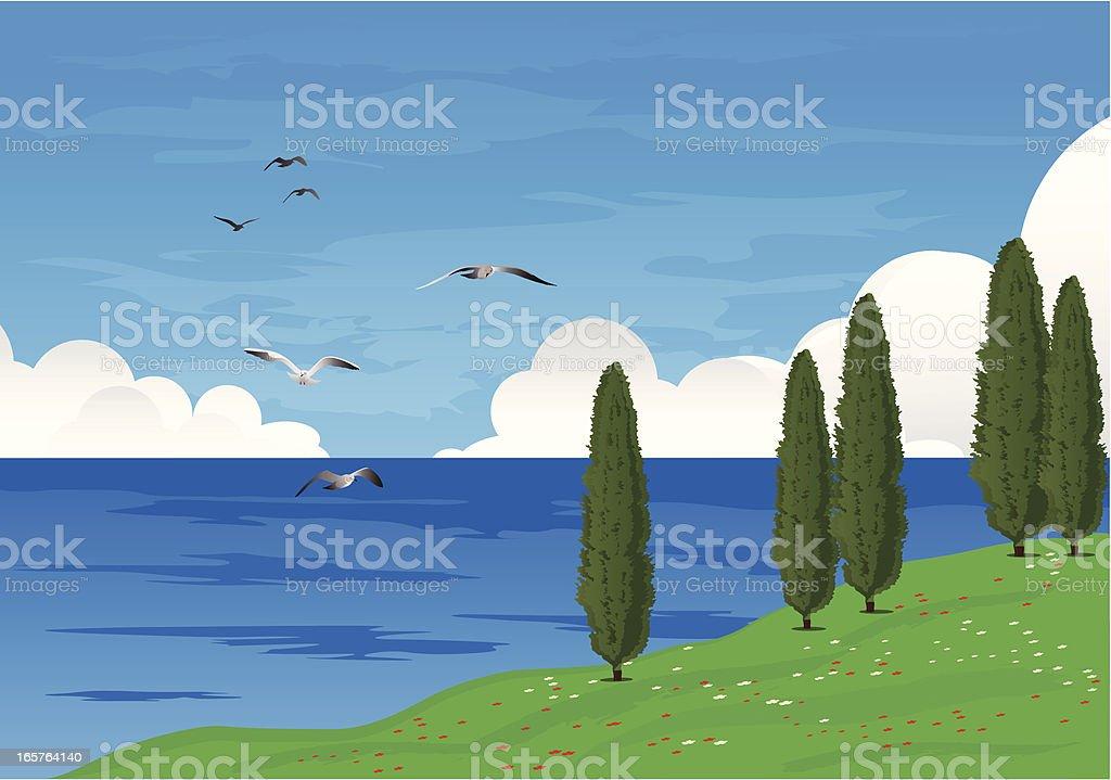 Mediterranean Coast. royalty-free stock vector art