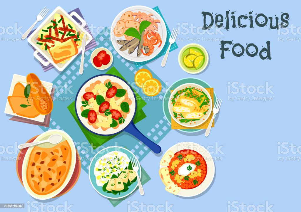 Mediterranean cuisine lunch icon for food design vector art illustration