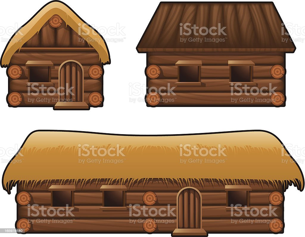 Medival housing royalty-free stock vector art