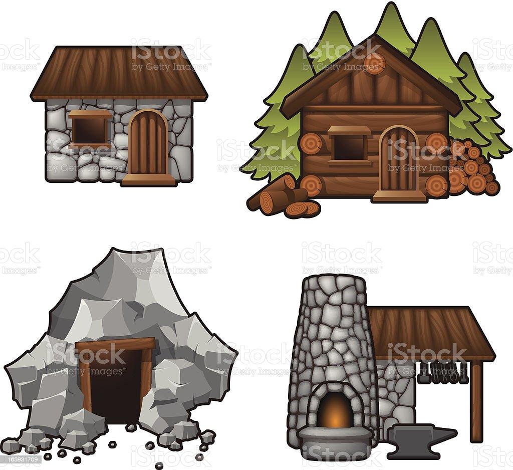 Medival - Resources vector art illustration