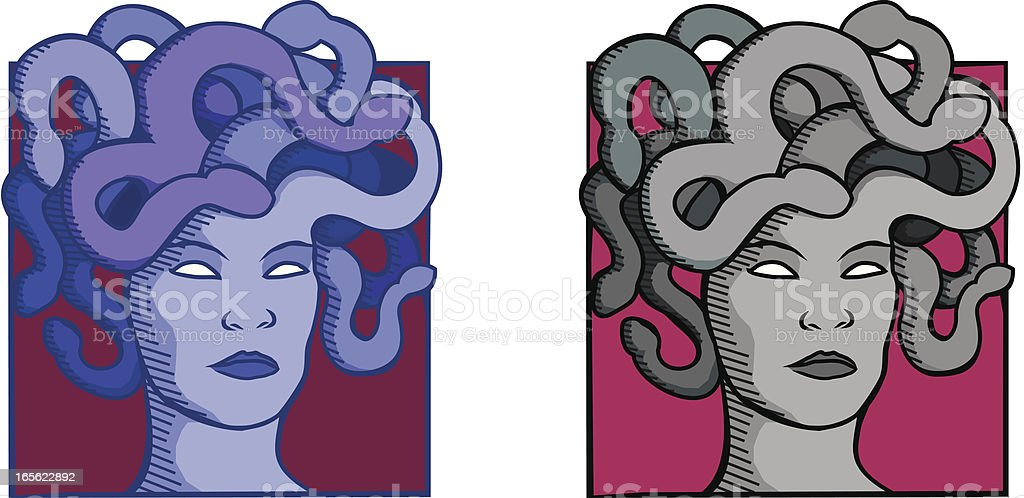 Medusa royalty-free stock vector art