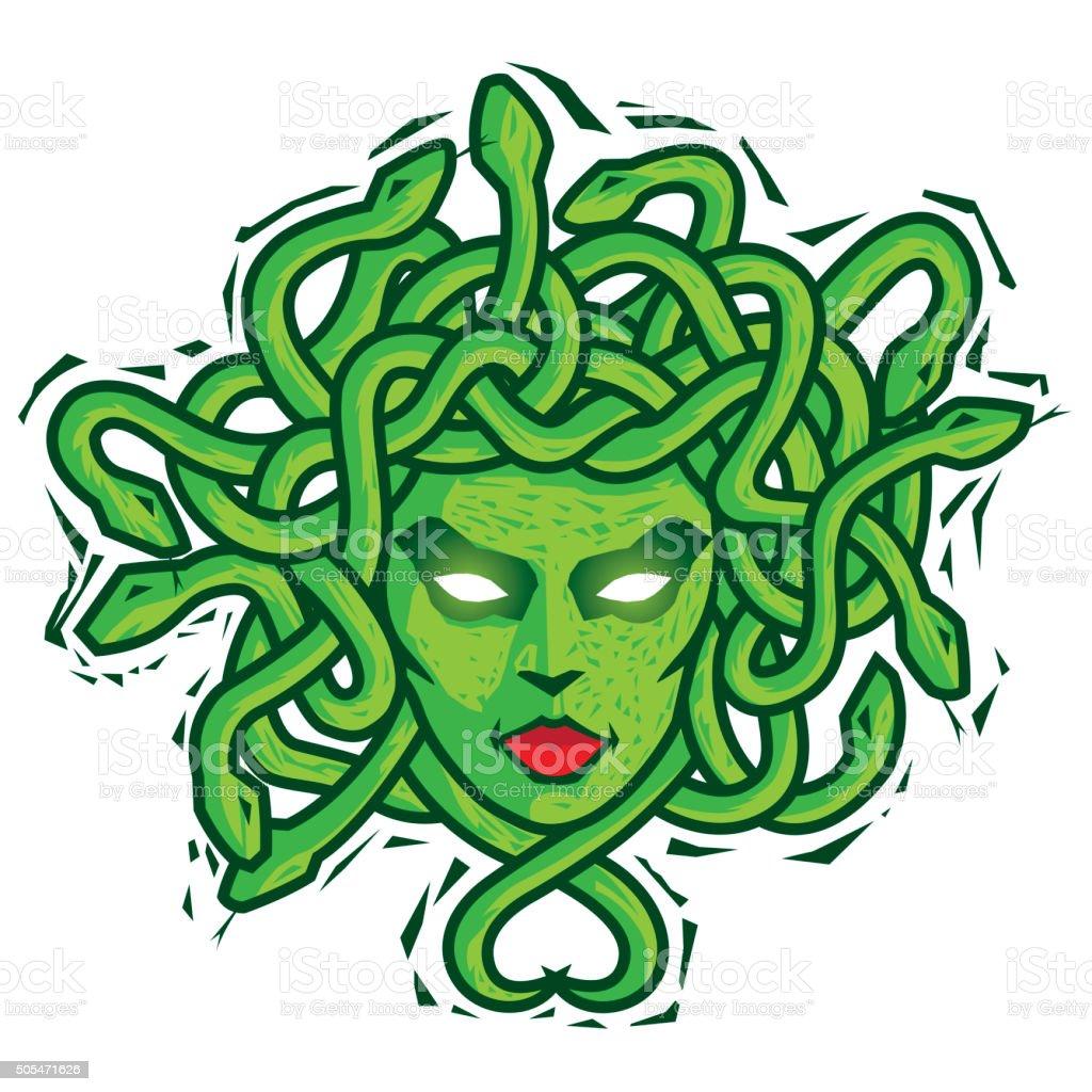 Medusa. Vector vector art illustration